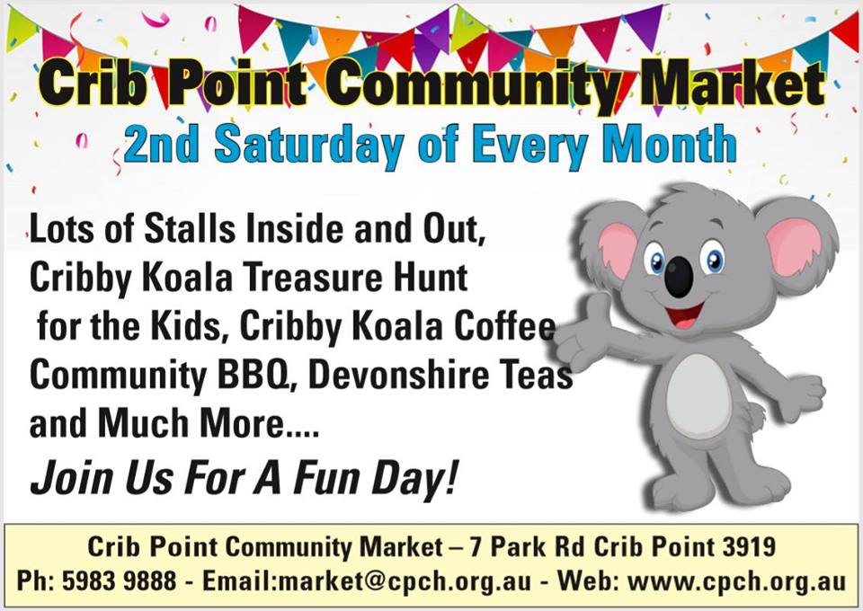 Crib Point Community Market FB Flyer